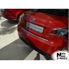 Накладка на задний бампер MG 6 2012- с загибом