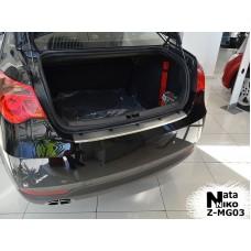 Накладка на задний бампер MG 550 2012- с загибом