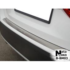 Накладка на бампер BMW X1 2009- без загиба
