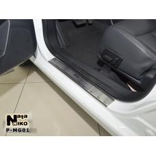 Накладки на пороги MG 350 2012- premium