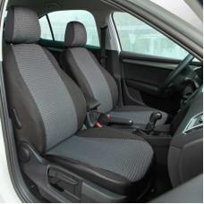 Чехлы Chevrolet Aveo 2006-2011 Жаккард /темно-серый