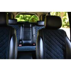 Накидки на сиденья автомобиля полный комплект, черный