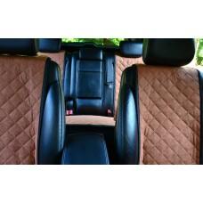 Накидки на сиденья автомобиля полный комплект, бежевый