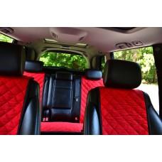 Накидки на сиденья автомобиля полный комплект, красный