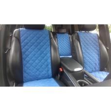 Накидки на сиденья автомобиля полный комплект, синий