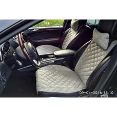 Накидки на сиденья автомобиля премиум передние, серый