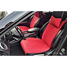 Накидки на сиденья автомобиля премиум передние, красный