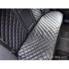Накидки на сиденья автомобиля задние, черный экокожа