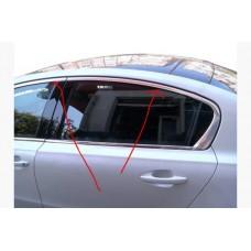 Верхняя окантовка стекол Peugeot 508 2010-2018 Sedan, нерж.