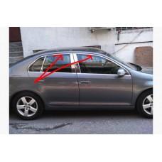 Верхняя окантовка стекол Volkswagen Jetta 2006-2011 нерж.