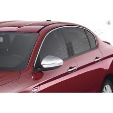 Верхние молдинги стекол Fiat Egea 2015- (нерж.) 4 шт.