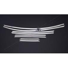 Верхние молдинги стекол Ford Focus 2011- (нерж.) 8 шт.