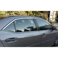 Верхние молдинги стекол Toyota Corolla 2013- (нерж.) 4 шт.