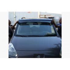 Козырек на лобовое стекло Citroen Berlingo 2008-2018 (черный глянец, 5мм)