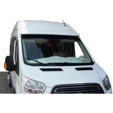 Козырек на лобовое стекло Ford Transit 2014- (на клей, под покраску)