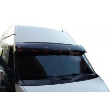 Козырек на лобовое стекло Ford Transit 2000-2014 (черный глянец, 5мм)