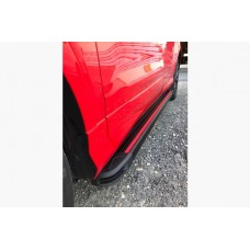 Боковые пороги Audi Q3 2011- Maya Red (2 шт., алюминий)