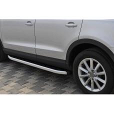 Боковые пороги Audi Q3 2011- Fullmond (2 шт., алюминий)