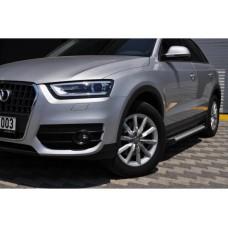 Боковые пороги Audi Q5 2008-2017 Allmond Grey (2 шт., алюминий)
